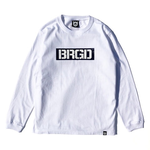 Box BRGD L/S Tee - White/Navy