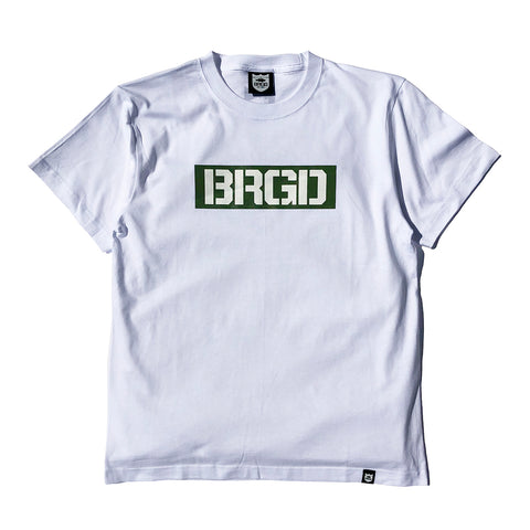 Box Brgd Tee - White/Olive