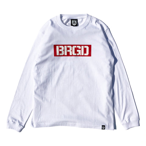 Box BRGD L/S Tee - White/Red