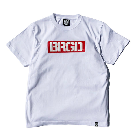 Box Brgd Tee - White/Red