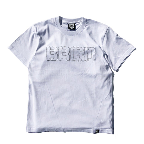 Wired BRGD Tee - White/Silver