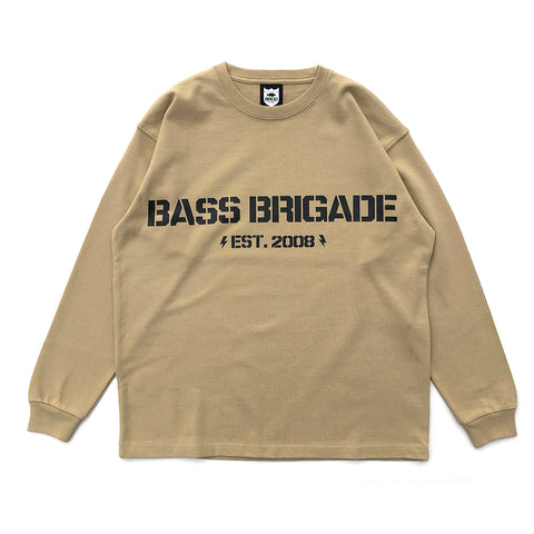 BB Word Mark L/S Tee #1 - Sand