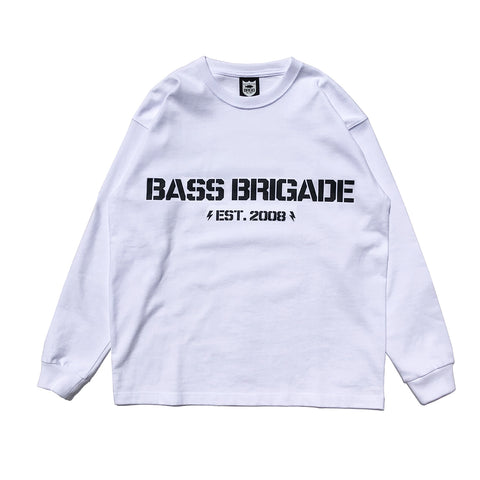 BB Word Mark L/S Tee #1 - White