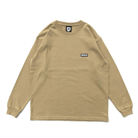 BB Word Mark L/S Tee #2 - Sand