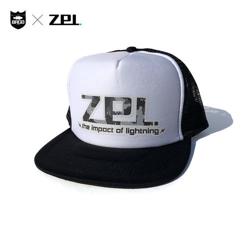 ZPI × BRGD ZPI Logo Trucker Hat - Black/White