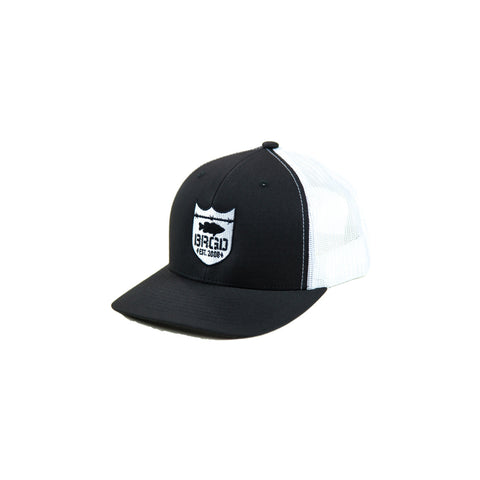Shield Logo Trucker Hat - Black/White
