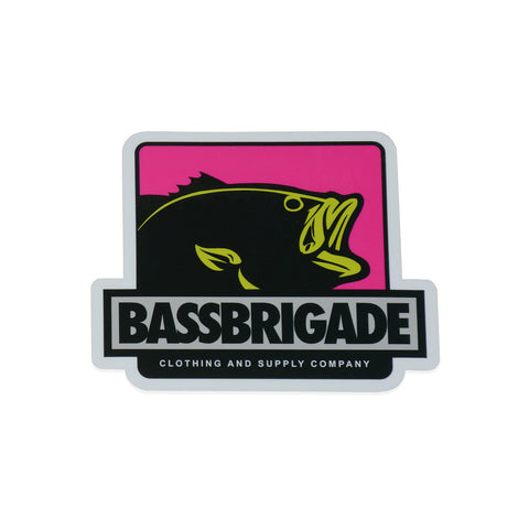 "4"" Boxed Bass Sticker - Pink"
