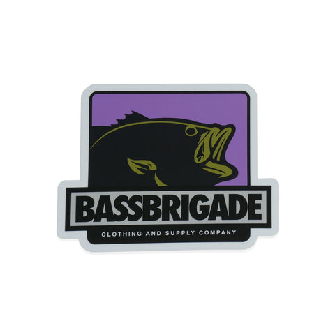 "4"" Boxed Bass Sticker - Purple"