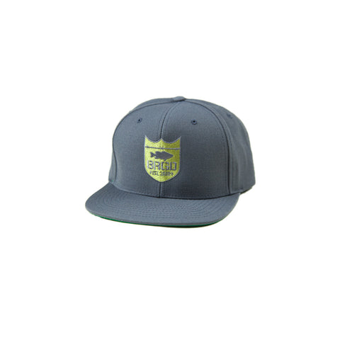 Shield Logo Snapback Hat - Dark Grey/Olive