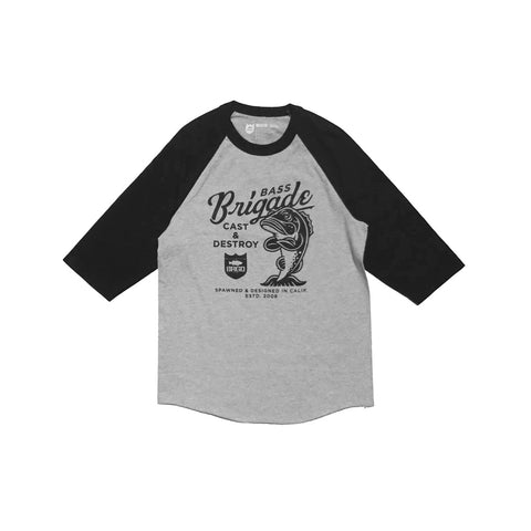 Bassy B V2 Raglan Tee - Heather Grey/Black