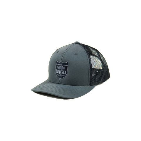 Shield Logo Trucker Hat - Charcoal/Black