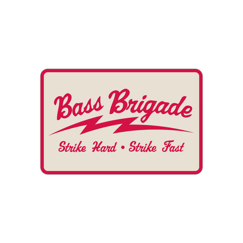 Bass Brigade SHSF Sticker - Natural/Red