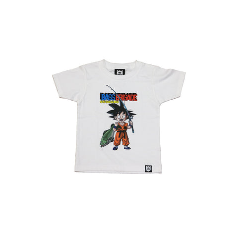 Bass Brigade x Dragon Ball Goku Kids Tee - White