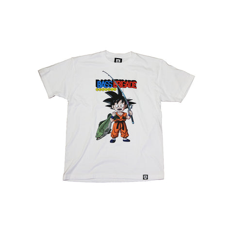 Bass Brigade x Dragon Ball Goku Tee - White