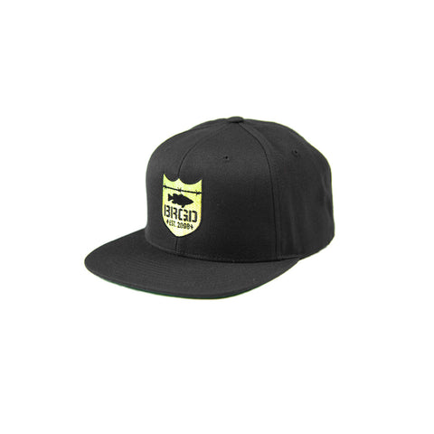 Shield Logo Snapback Hat - Black/Desert