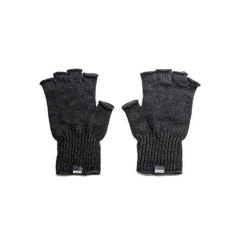 Bass Brigade BRGD Fingerless Knit Gloves - Black