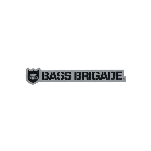 Shield & Wordmark Sticker - Grey