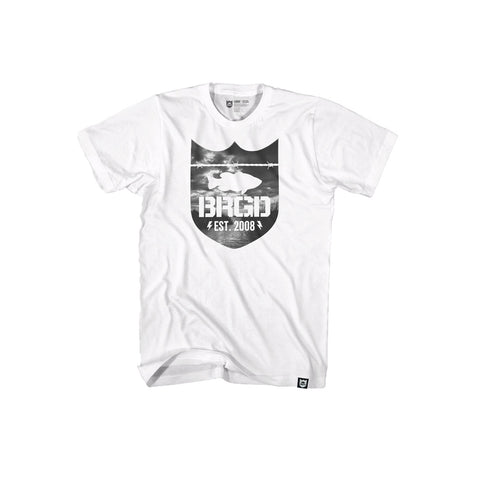 Shield Delta Tee - White/Black