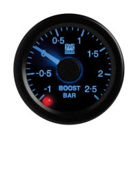 SPA Technique Boost Pressure Gauge -1 to +2.5 Bar (White Dial & Red Backlight)