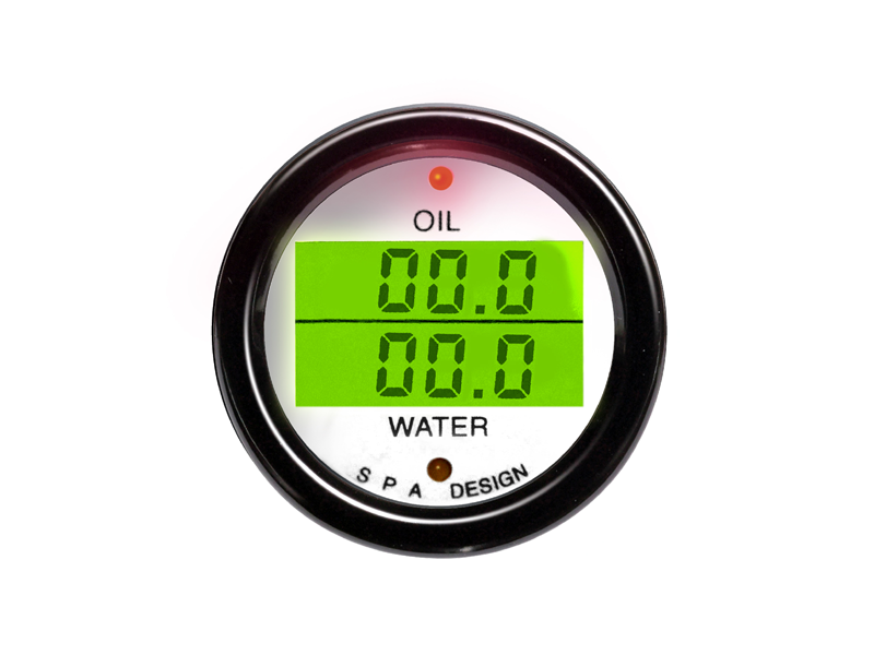 SPA Technique OIL PRESSURE/WATER TEMP Digital Gauge (White)