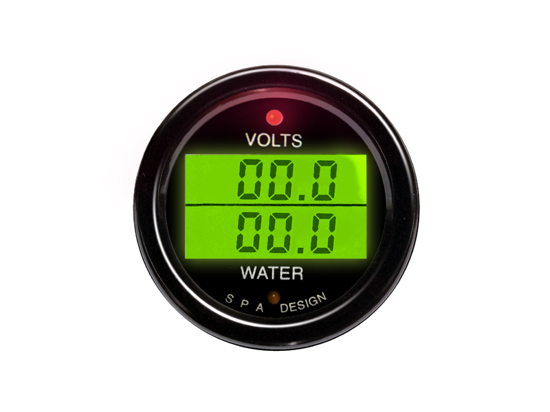 SPA Technique VOLTS/WATER TEMP Digital Gauge (Black)