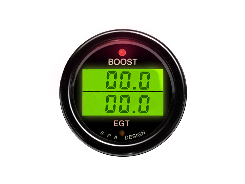 SPA Technique BOOST/EGT Digital Gauge (Black)