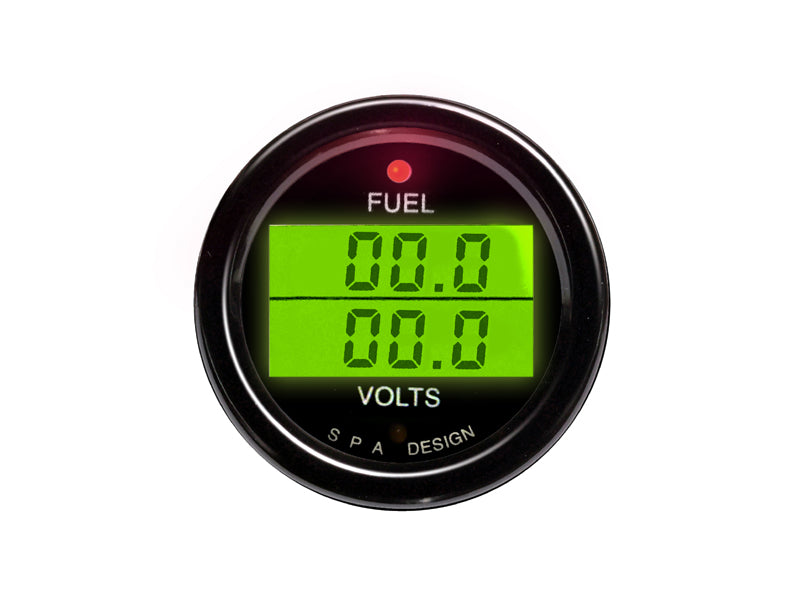 SPA Technique FUEL LEVEL/VOLTS Digital Gauge (White)