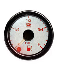 SPA Technique Fuel Level Gauge (White Dial & Blue Backlight)