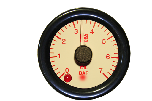SPA Technique Fuel Pressure Gauge 0 to 7 Bar (White Dial & Red Backlight)