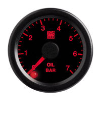 SPA Technique Oil Pressure Gauge 0 to 100 PSI (Black Dial & Red Backlight)