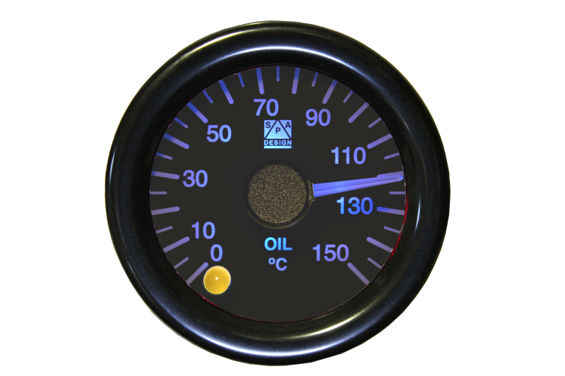 SPA Technique Oil Temperature Gauge 0 to 150°c (White Dial & Red Backlight)