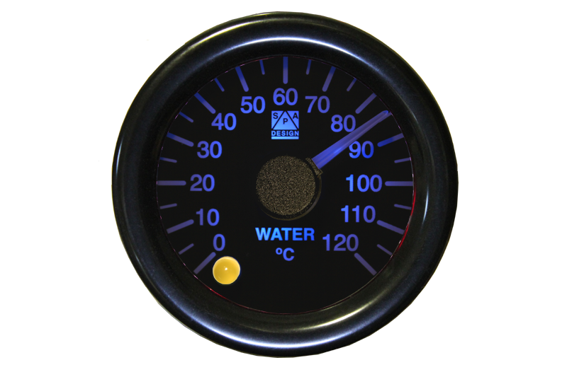 SPA Technique Water Temperature Gauge 0 to 120°c (White Dial & Blue Backlight)