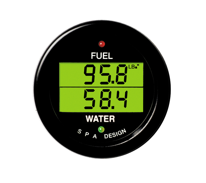 SPA Technique FUEL PRESSURE/WATER TEMP Digital Gauge (Black)