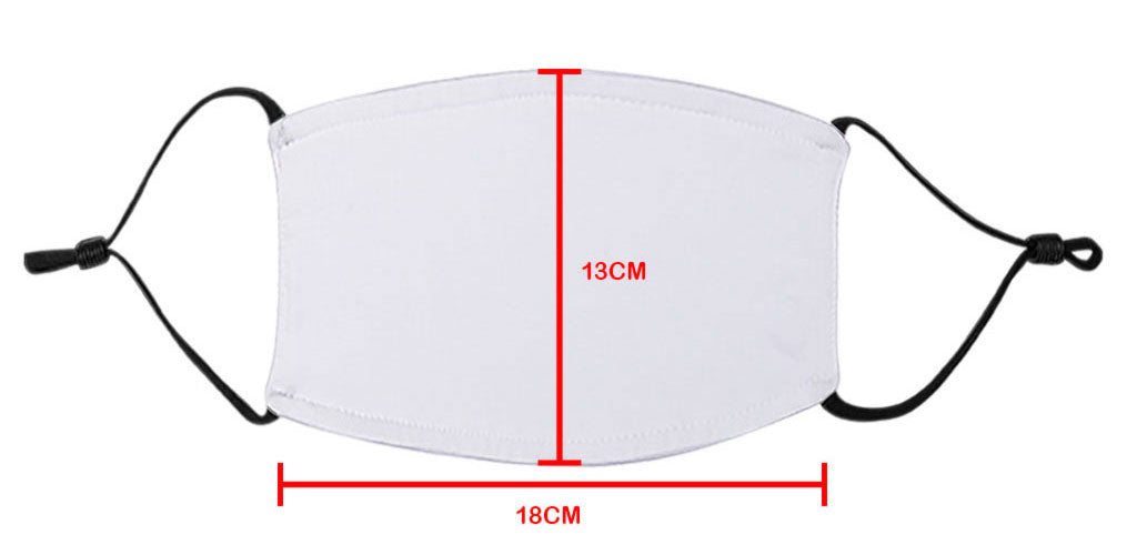 Adult's Face Mask Size Guide - White Trim