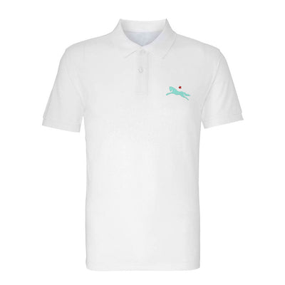 Jockey Club Tuquoise And Red Embroidered Logo Men's Polo T-Shirt-Jockey Club Salinas Ibiza Store
