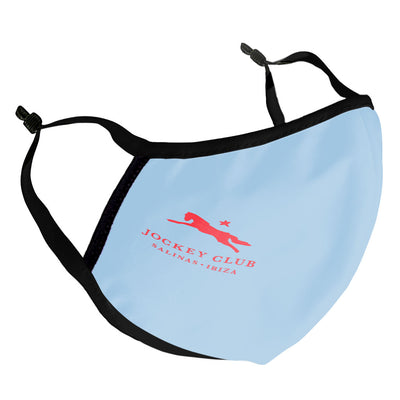 Jockey Club Red Logo Adult Face Mask-Jockey Club Salinas Ibiza Store