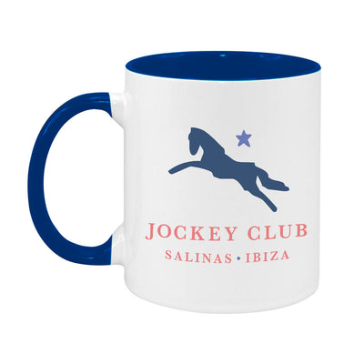 Jockey Club Salinas Ibiza Navy And Light Blue Logo Two Colour Mug-Jockey Club Salinas Ibiza Store