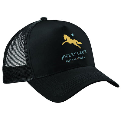 Jockey Club Salinas Ibiza Yellow And Turquoise Logo Trucker Cap-Jockey Club Salinas Ibiza Store