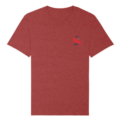Jockey Club The Club Red Logo Men's Organic T-Shirt-Jockey Club Salinas Ibiza Store