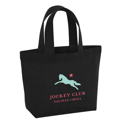 Jockey Club Salinas Ibiza Turquoise And Red Logo Marina Mini Tote Bag-Jockey Club Salinas Ibiza Store