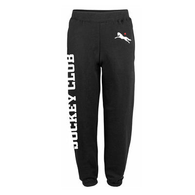 Jockey Club White And Red Logo And Text Men's Cuffed Sweatpants-Jockey Club Salinas Ibiza Store