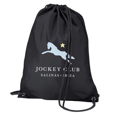 Jockey Club Salinas Ibiza Light Blue And Yellow Logo Water Resistant Sports Gymsac Drawstring Day Bag-Jockey Club Salinas Ibiza Store