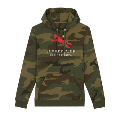 Jockey Club Salinas Ibiza Red And White Logo Camo Hooded Sweatshirt-Jockey Club Salinas Ibiza Store