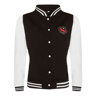 Jockey Club Sparkle Logo And Bade Front And Back Print Girlie Varsity Jacket-Jockey Club Salinas Ibiza Store