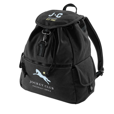 Jockey Club EST 1993 Light Blue And Yellow Text Vintage Canvas Backpack-Jockey Club Salinas Ibiza Store