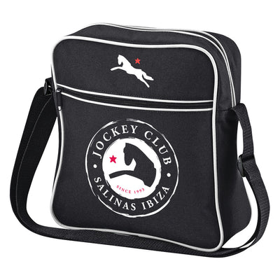 Jockey Club White And Red Logo And Badge Retro Flight Bag-Jockey Club Salinas Ibiza Store