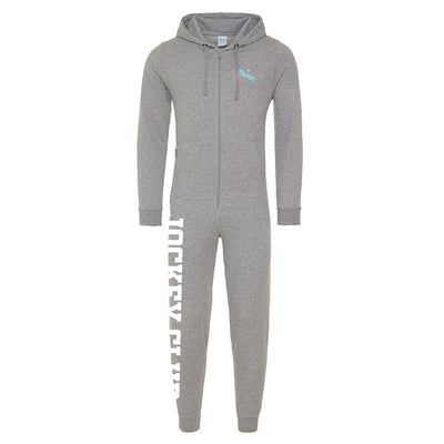 Jockey Club Turquoise And Pink Logo Onesie-Jockey Club Salinas Ibiza Store