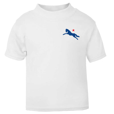Jockey Club Blue And Red Logo Baby T-Shirt-Jockey Club Salinas Ibiza Store