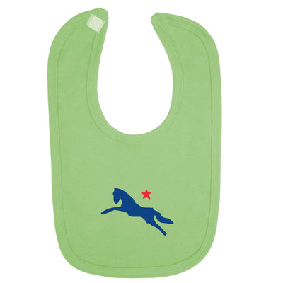 Jockey Club Blue And Red Logo Velcro Bib-Jockey Club Salinas Ibiza Store