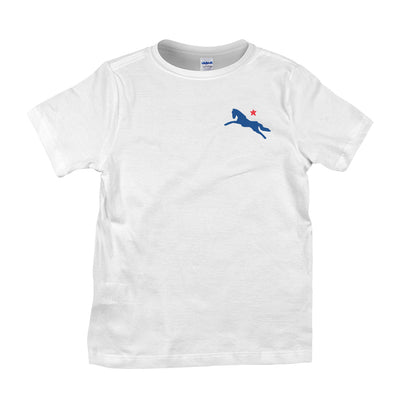 Jockey Club Blue And Red Logo Kid's T-Shirt-Jockey Club Salinas Ibiza Store